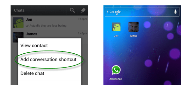 CONVERSATION SHORTCUT