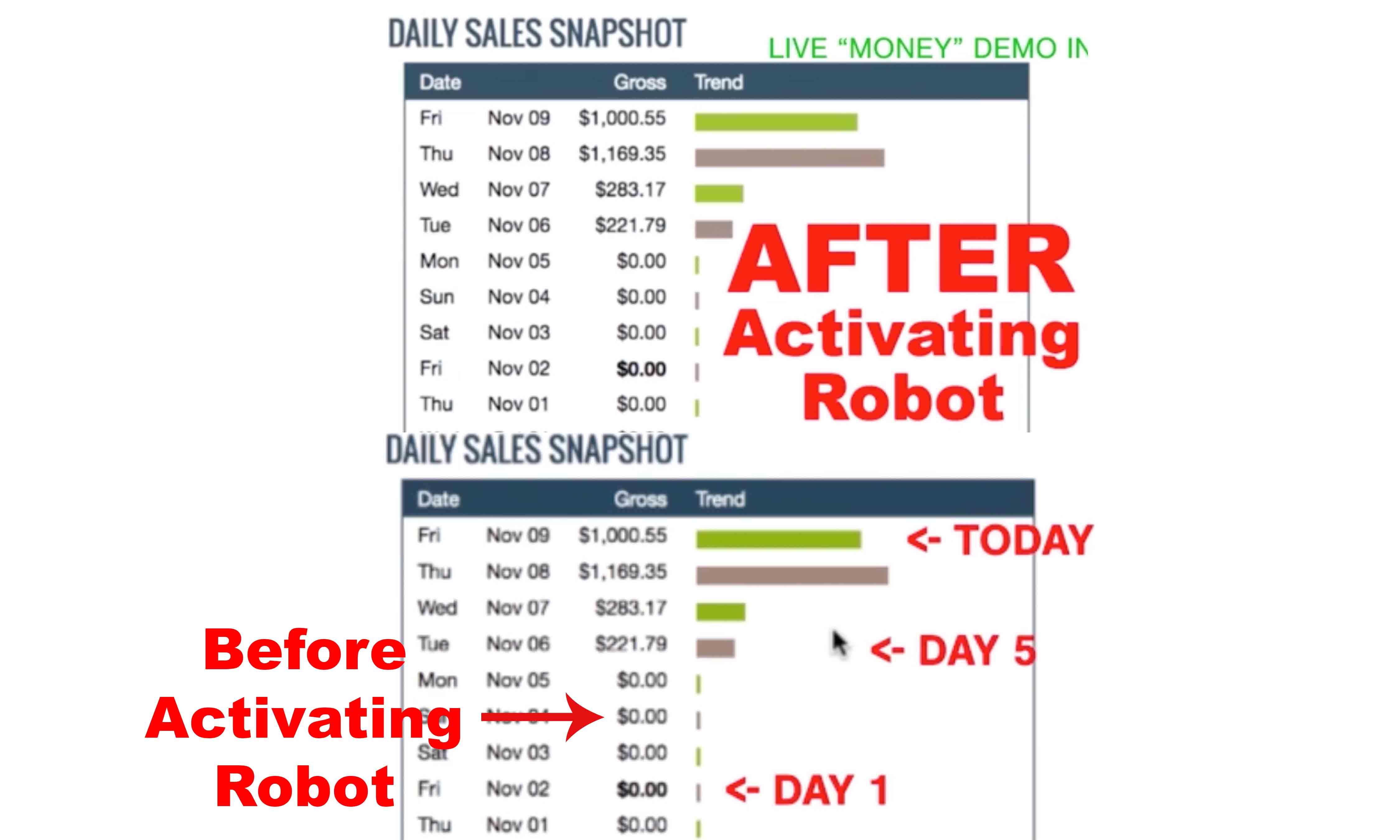 Auto Chat Profits Results