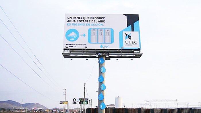 Air Purifying And Water Generating Billboards