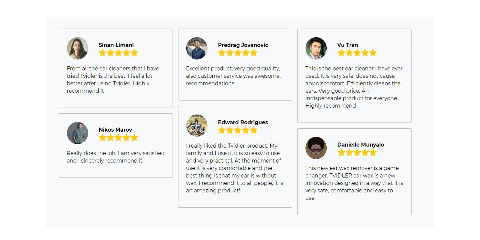 Tvidler Ear Wax Cleaner Customer reviews