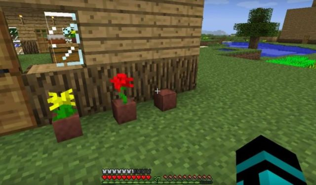 how to make a flower pot in minecraft