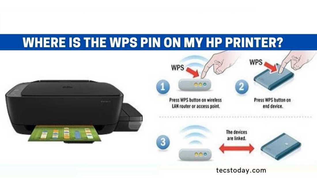 wps pin hp printer