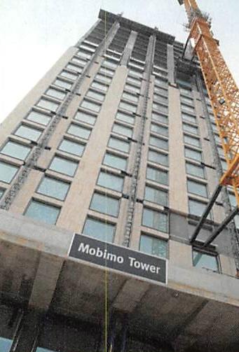 Mobimo-Tower Zürich - logistische Meiserleistung in luftiger Höhe