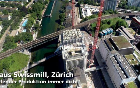 Kornhaus Swissmill, Zürich. Unter laufender Produktion immer dicht!