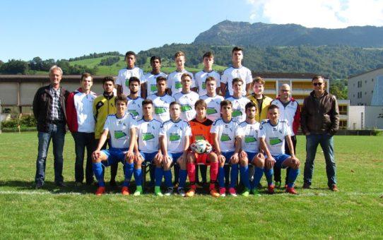 FC Küssnacht A-Junioren tragen das TECTON Logo auf der Brust