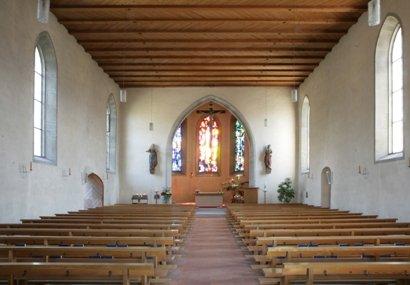 Uznach, Kreuzkirche Innenansicht