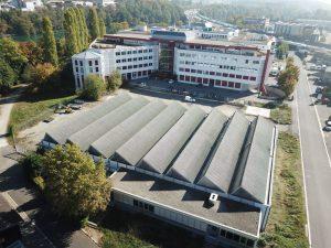 s'Drooni unterwegs im 2018 über Neuenhof (AG)