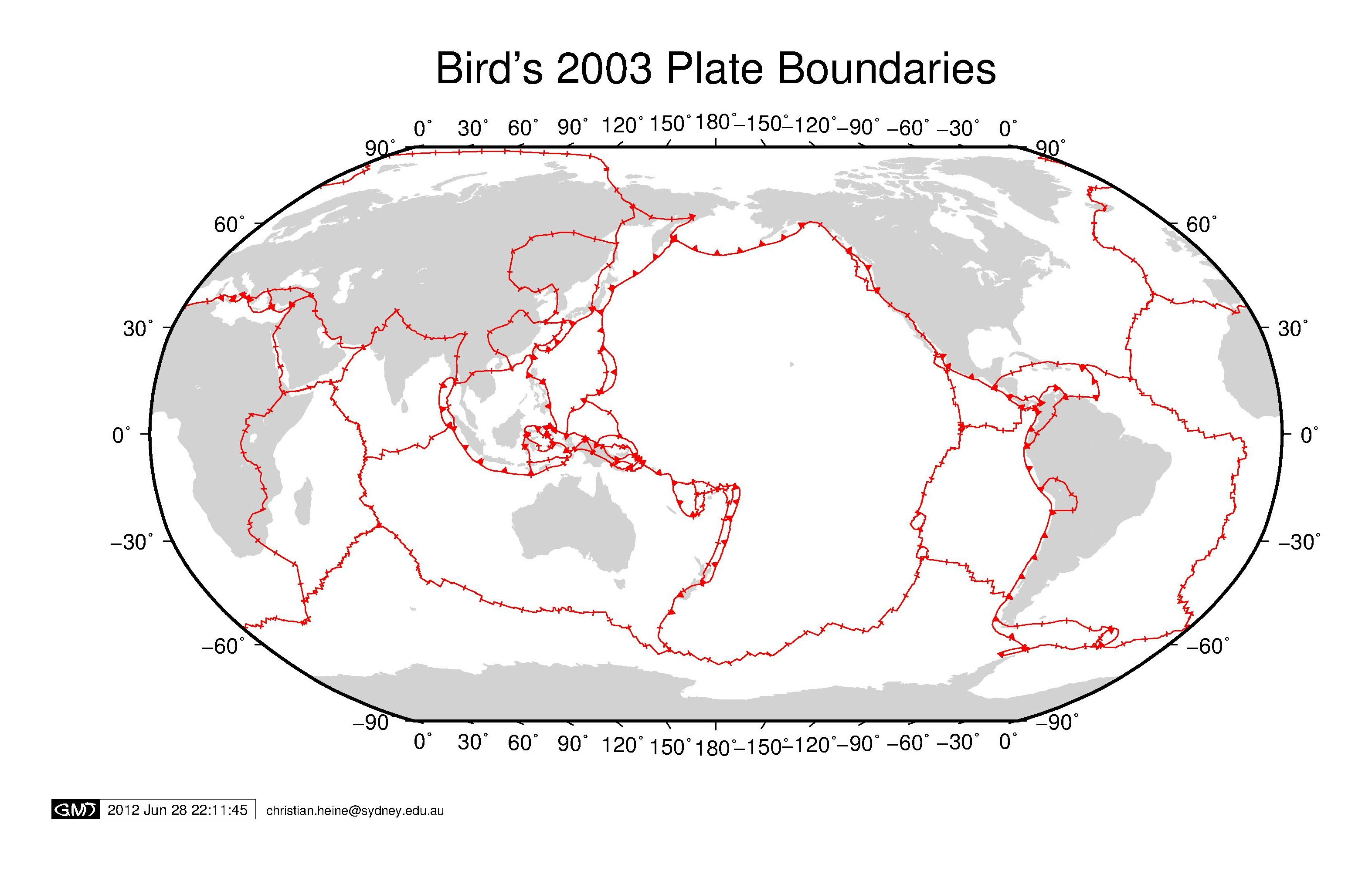 Plate Boundaries For Gmt5 S Psxy