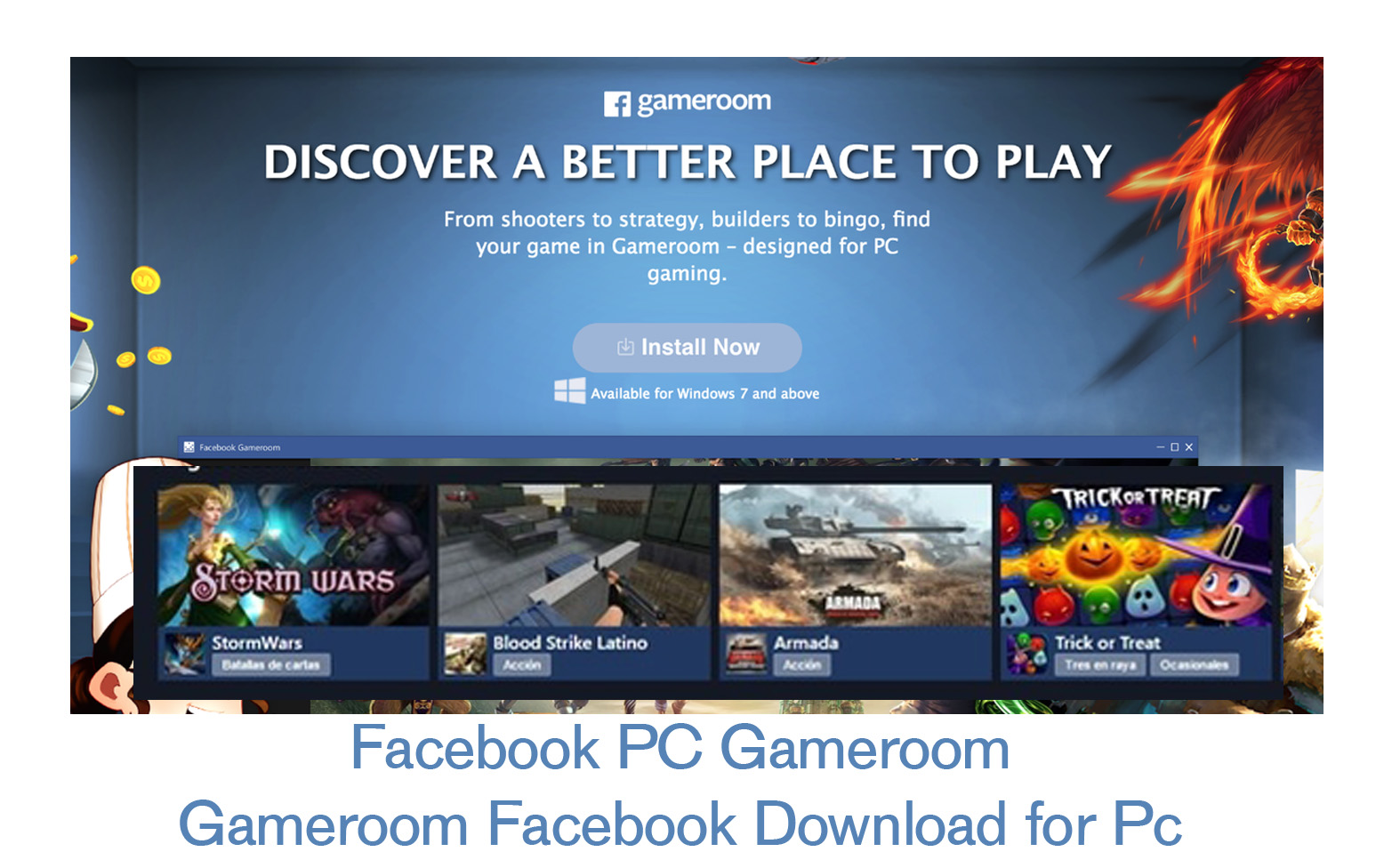 Facebook PC Gameroom - Gameroom Facebook Download for Pc