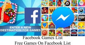 Free Facebook Games List