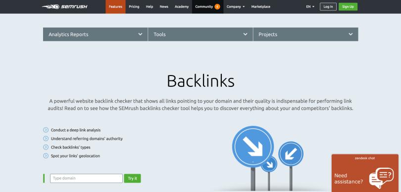 semrush backlink checker