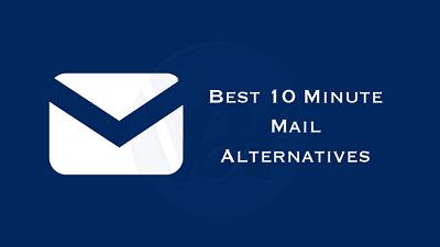 10 Minutes Mail alternatives
