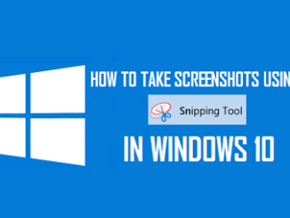 screenshot in windows 10 with snipping tool
