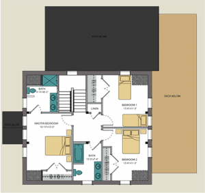 Tradd 134 2nd floor plan