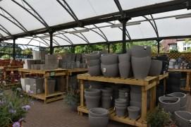 ... plastic pots ....