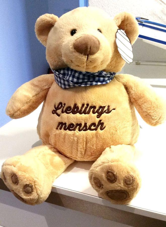 Teddy mit Spruch Lieblingsmensch