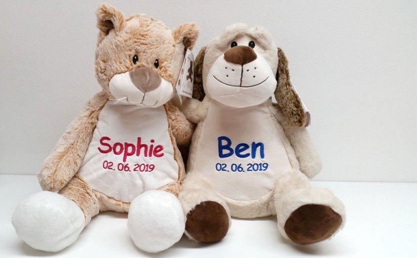 Zur Geburt ein Teddy mit Name