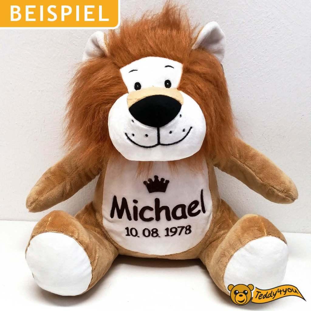 König der Tier - Löwe mit Namen, Geburtsdatum und Krone