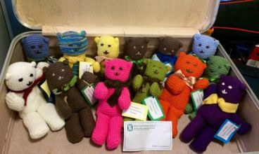 Teddies made for Standby by Sue Shaw and the craft group at Holy Cross School Wooloowin