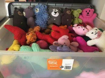 knitfest teddies bon voyage
