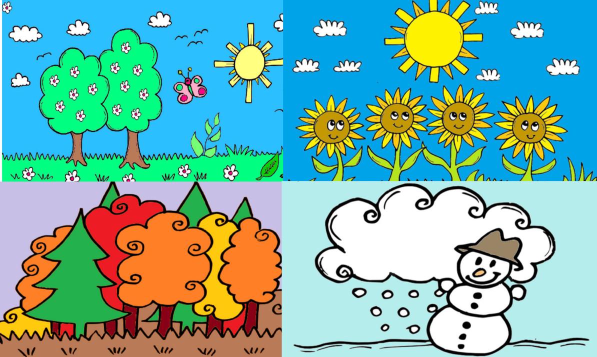 Malvorlage 4 Jahreszeiten Ausmalbilder Jahreszeiten Monate