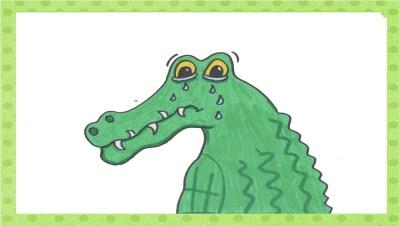 Das Krokodil weint