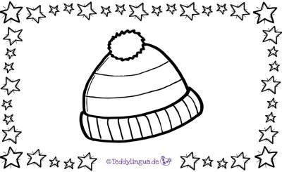 eine Mütze zum Ausmalen