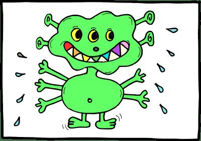 Ein grünes Monster