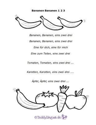 Text zum Lied: Bananen Bananen 123