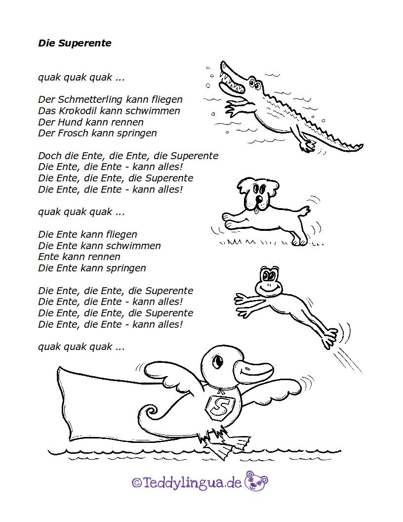 Bin quak ein frosch ich quak liedtext Bewegungslied für