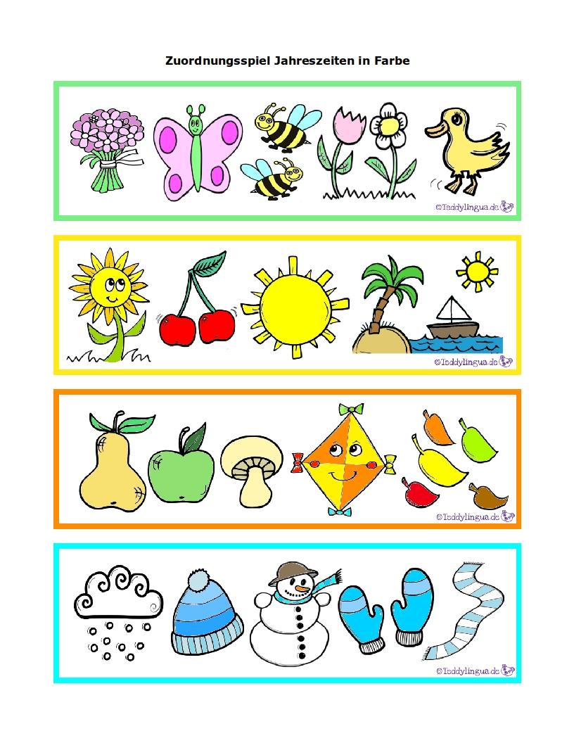 Arbeitsblätter Jahreszeiten Kostenlos : Monate teddylingua