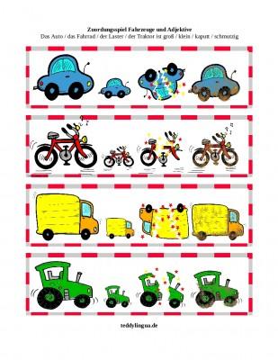 Zuordnungsspiel Fahrzeuge