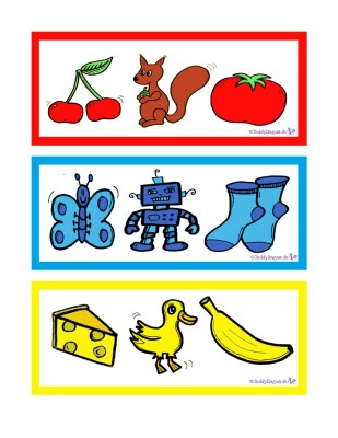 Zuordnungsspiel Grundfarben