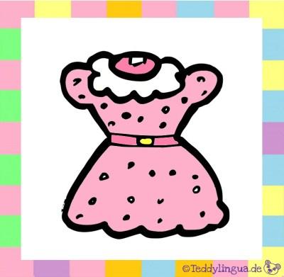 ein rosa Kleid