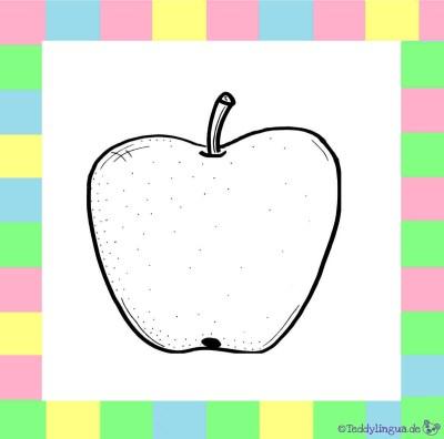 Apfel zum Ausmalen