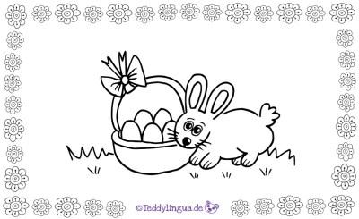 ein Osterhase zum Ausmalen