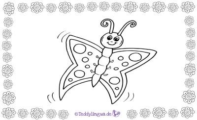 ein Schmetterling zum Ausmalen