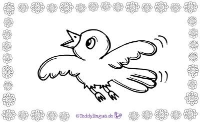 ein Vogel zum Ausmalen