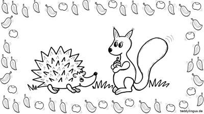 der Igel und das Eichhörnchen