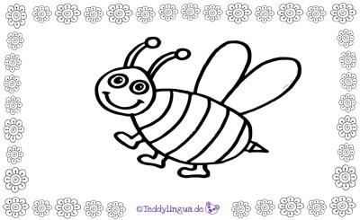 eine Biene zum Ausmalen