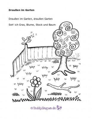 Draußen im Garten