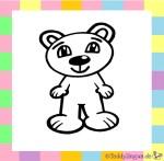 Karnevalskostüm Teddybär zum Ausmalen