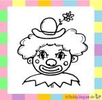 Karnevalskostüm Clown zum Ausmalen