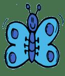 Ein blauer Schmetterling