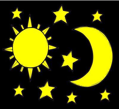 Sonne Mond und Sterne