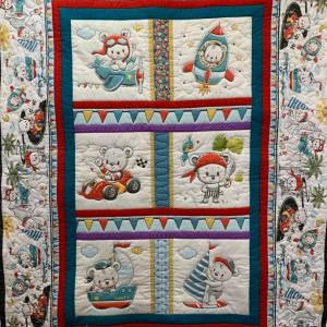 Quilt Panel Teddy's Great Adventure