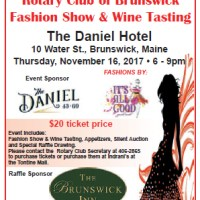 Fashion Show & Wine Tasting Fundraiser to Benefit Tedford Housing, Universal Promise and Brunswick Rotary Projects