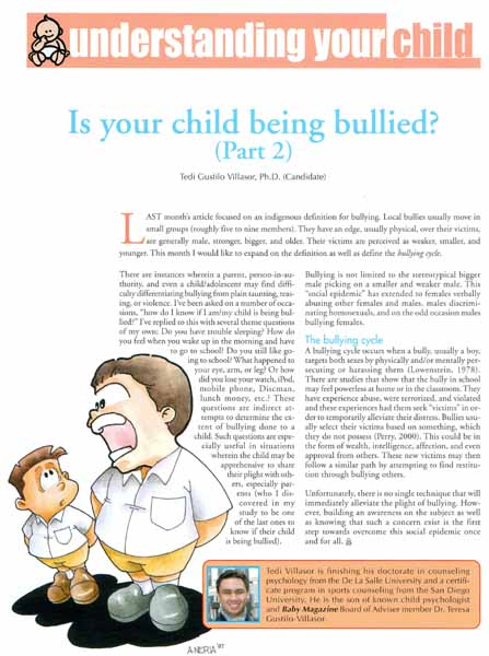 October 2005 Article in Baby Magazine