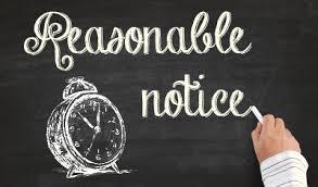 reasonable notice period