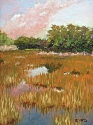 3. Summer at Grassy Waters (Plein Air/Oil) $900